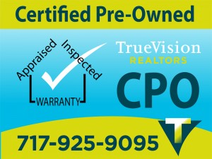certified pre owned sign